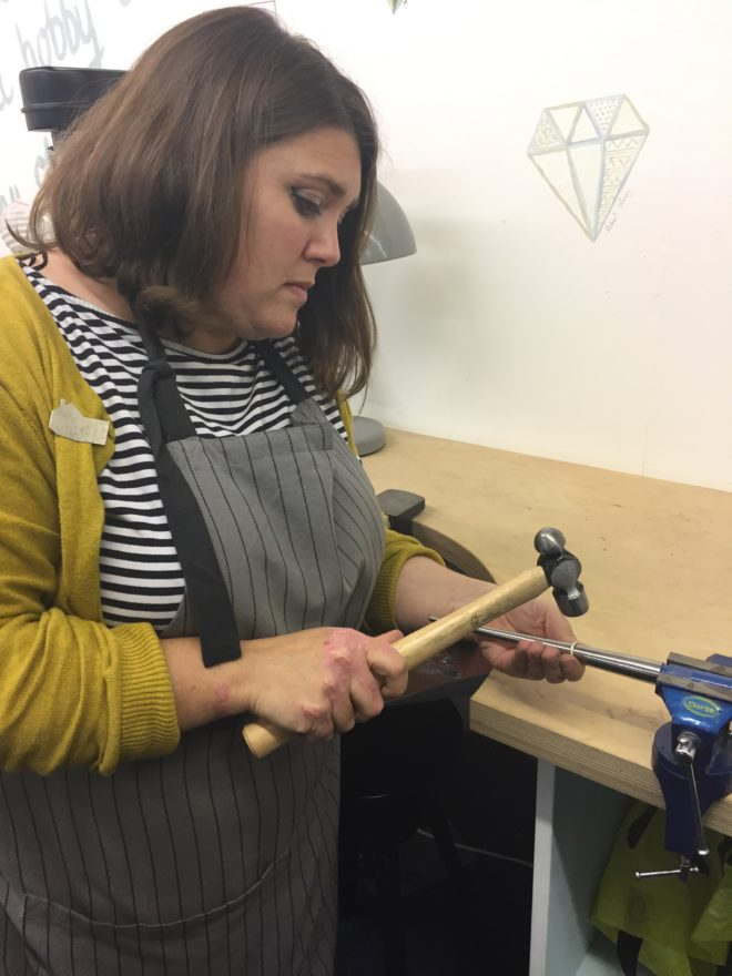 Alys power - jeweller extraordinaire, shoing us how to shape our rings