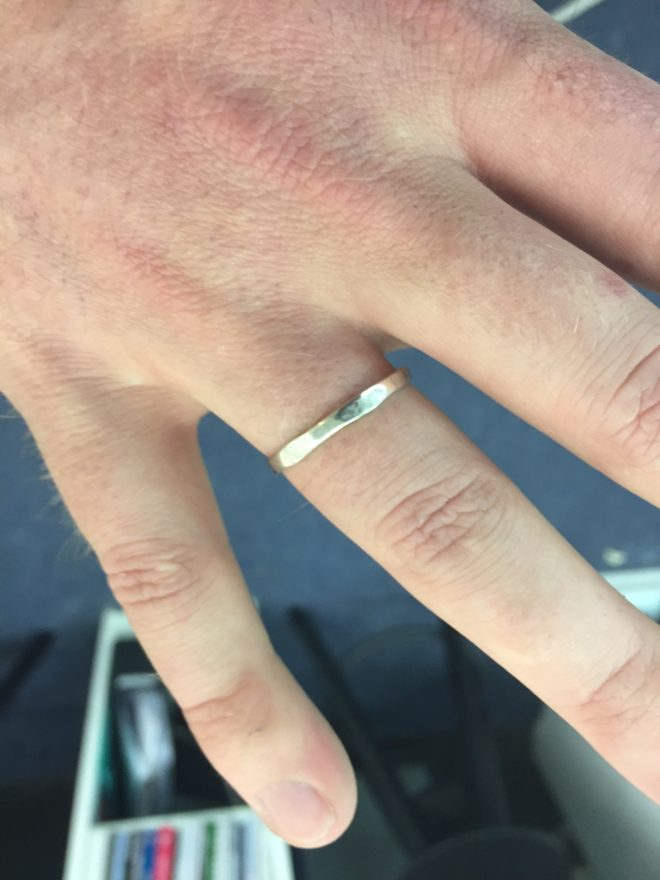 John's finished ring