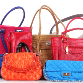 a selection of colourful handbags