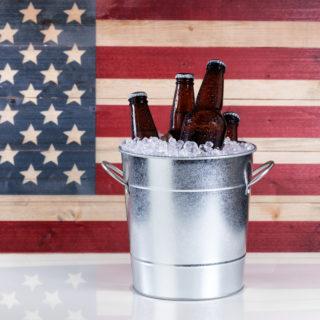 America Flag Beer