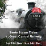 Santa steam trains