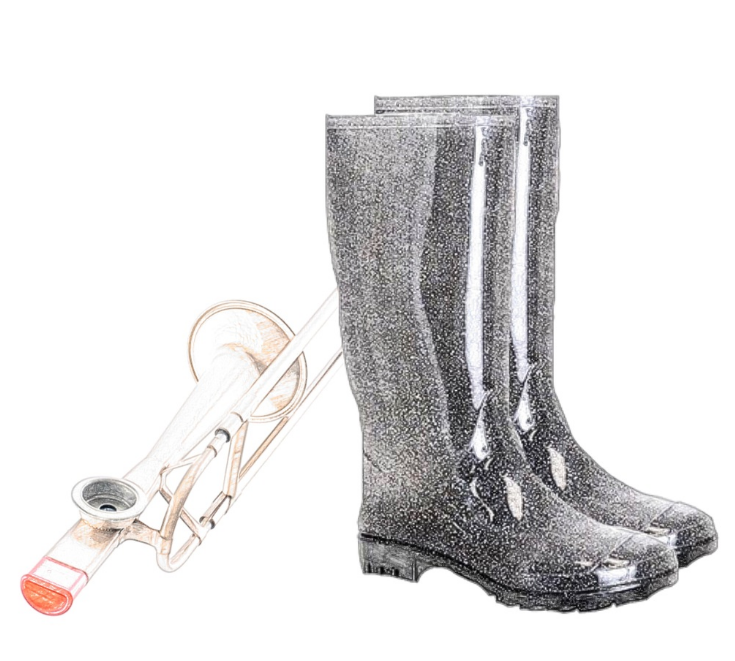 galoshes and Nana's Maltese kazoo