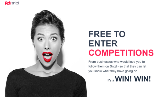 Snizl competitions landing page image