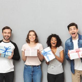 people winning prizes