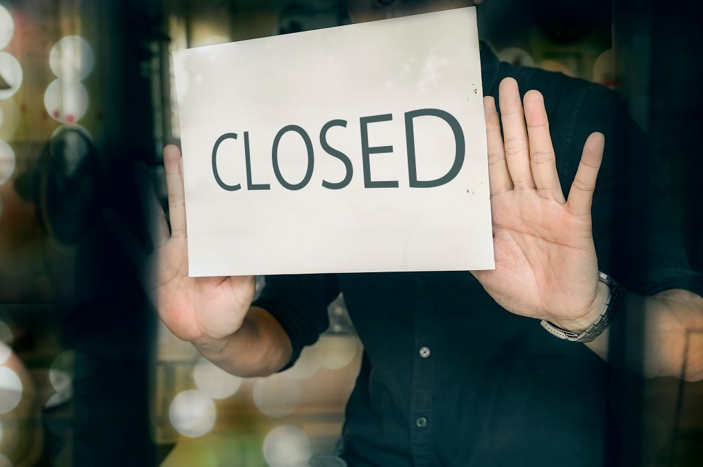 Man closing his local business due to coronavirus outbreak