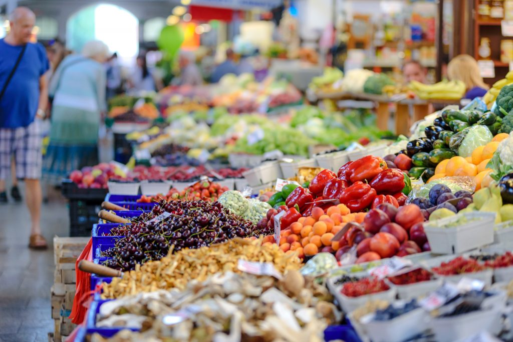 fresher, locally sourced food on market stalls