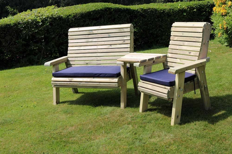 Ergonomic Trio Set With Angled Tray – 3 Seater from flower garden leeds