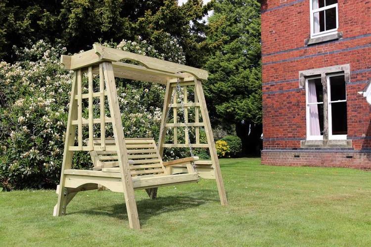 Cottage Garden Wooden Swing 2 Seater garden furniture from flower garden leeds