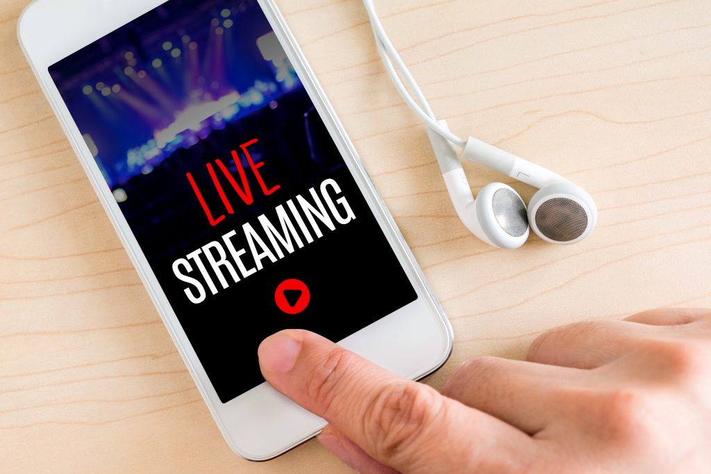 Live streaming live concerts and performances due to COVID19