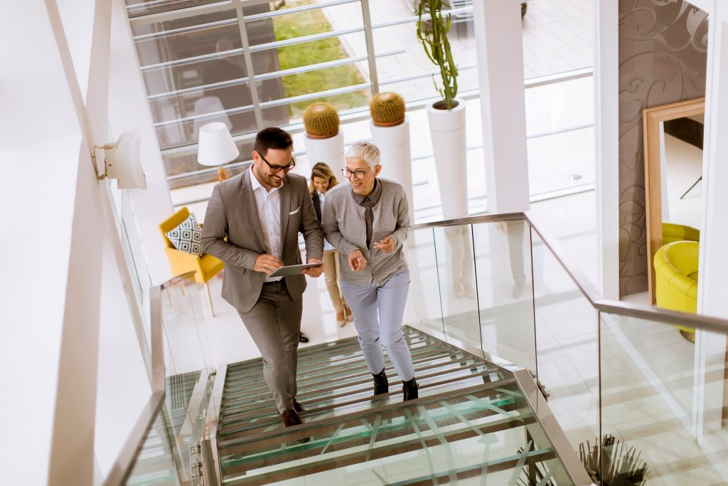 Take the stairs at the work place to increase the number of steps you do per day.