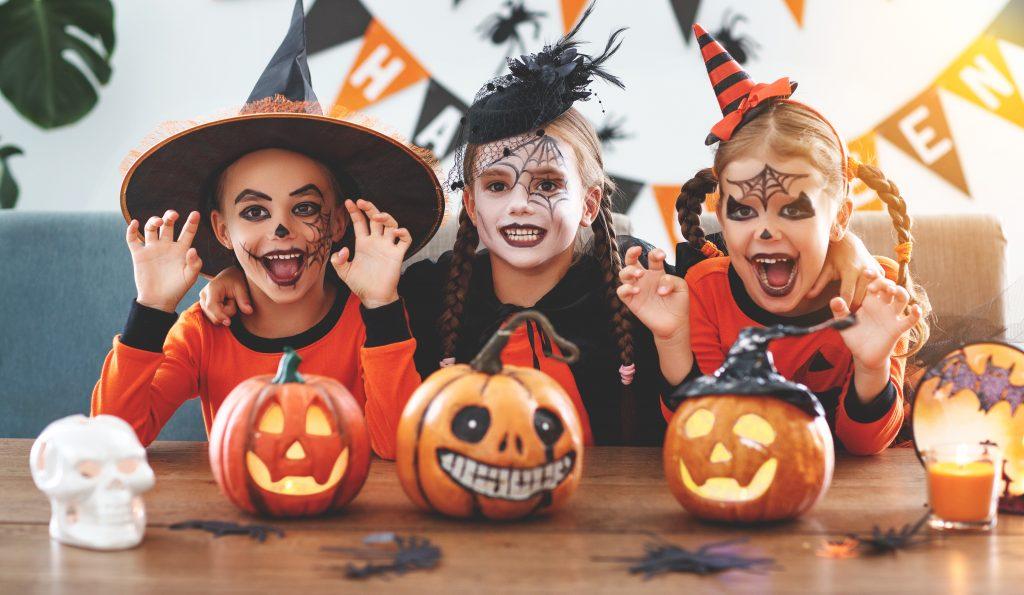 Children celebrating Halloween at Half Term